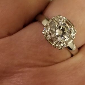925 Silver and CZ Ring Size 8